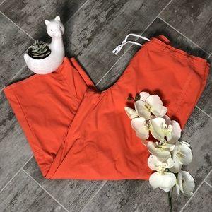 LUCY Orange Wide Leg Drawstring Pants